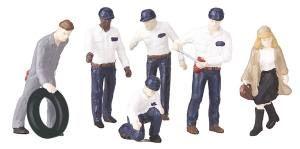 Gas Station Attendants & Patrons #1 6pc