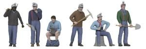 Miners Figures #6/6pc