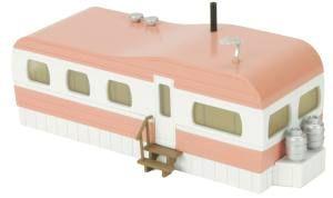 Mobile Home/salmon & white