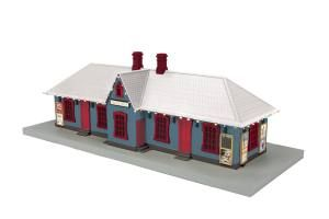 North Pole Country Passenger Station w/Operating Christmas Lights
