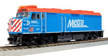 """EMD F40PH Chicago METRA with Ditch Lights #137 """"City of West Chicago"""""""