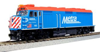 """EMD F40PH Chicago METRA with Ditch Lights #160 """"Village of Winfield"""""""