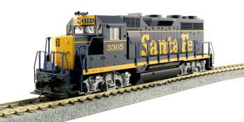 """EMD GP35 Phase Ia w/ DB - Santa Fe """"Dress Blue"""" #3305"""