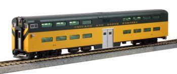 Pullman Bi-Level 4-Window Cab-Coach Chicago & North Western #184