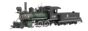 2-6-0 Steam Loco D&RGW green boiler DCC Ready