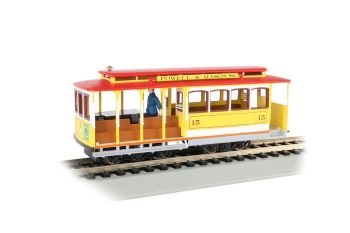 Cable Car with Grip Man - Yellow & Red