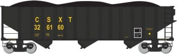 CSX #326160 - Beth Steel 100 Ton 3 Bay Hopper