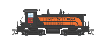 EMD NW2, CN #7942, Black w/ Orange Stripes, Paragon3 Sound/DC/DCC