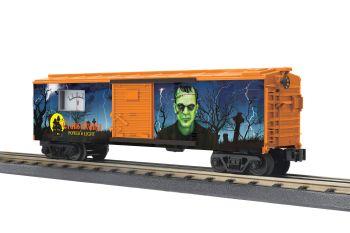 40' Steel Box Car w/Power Meter - Transylvania Power & Light (Frankenstein)