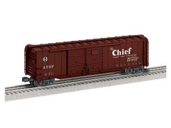 50' Double Door Boxcar #10456 - Santa Fe  Chief