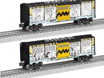Peanuts Comic Art - Winter Boxcar