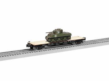 40' Flatcar with Sherman Tank - Boston & Maine  #33745