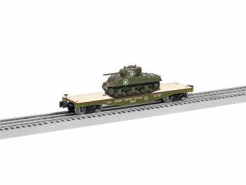 40' Flatcar with Sherman Tank - US Army #35359