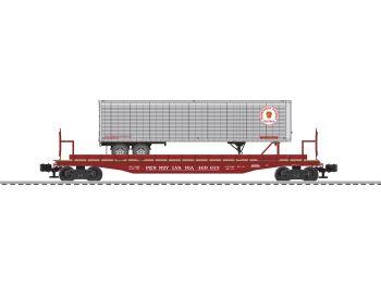 50' Flatcar PRR #469615 with PRRZ Trailer