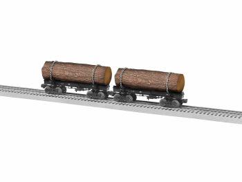Skeleton Log Car 2pk A - Unlettered