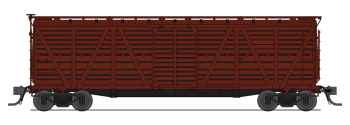 Stock Car  Unlettered  Boxcar Red  Cattle Sounds