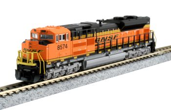 """EMD SD70ACe Nose Headlight Version - BNSF """"Swoosh"""" #8574 with Pre-installed DCC"""