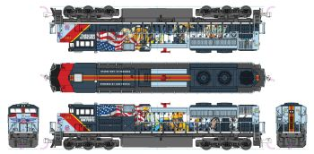 """EMD SD70ACe Union Pacific """"Powered By Our People"""" #1111 with Pre-Installed DCC"""