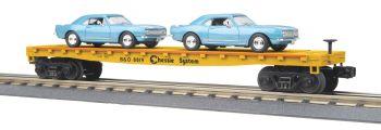 Flat Car w/(2) 1967 Camaros - Chessie #8819