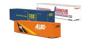 48' Container Set - Allied/Armour/CSX - O Gauge Premier