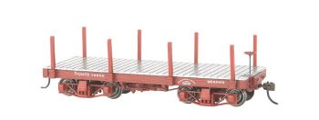 18 ft. Flat Car - Oxide Red, Data Only (2 per box)