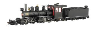 Baldwin 2-4-4-2 - Black Steel Cab W/White Stripes - DCC