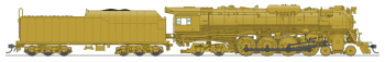 C&O J3a 4-8-4, Unlettered, Painted Brass, Paragon3 Sound/DC/DCC, Smoke