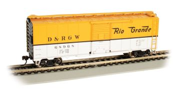 D&RGW™ #68968 - (yellow & silver)- 40' Box Car (HO Scale)