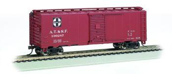 Santa Fe #136287 - Steam Era 40' Box Car (HO Scale)
