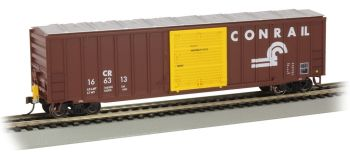 50' Outside Braced Box Car with FRED - Conrail #166313 -