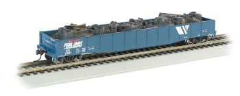 "Montana Rail Link - 50'6"" Drop End Gondola w/Scrap Load"