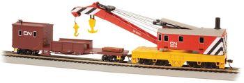 Canadian National - 250-Ton Steam Crane & Boom Tender (HO Scale)