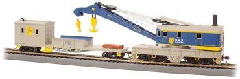 Delaware & Hudson - 250-Ton Steam Crane & Boom Tender (HO Scale)