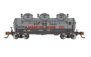 Ambrose Wine Co. #7501 - 40' Three-Dome Tank Car (HO Scale)