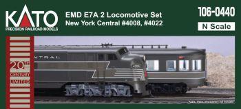EMD E7A New York Central 2 Locomotive Set with  pre-installed Digitrax DCC