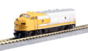 EMD F7A Santa Fe Yellow Bonnet (Freight version) w/ Pre-Installed Digitrax DCC