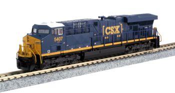 "GE ES44DC CSX ""Boxcar"" Logo #5407 w/ Ready-to-Run DCC"