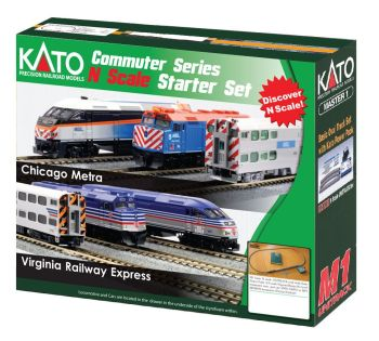MP36PH and Gallery Bi-Level Commuter Series Starter Set - Virginia Railway Express