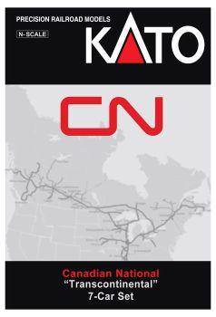 "Canadian National ""Transcontinental"" 7-Car Set w/ Interior Lighting Installed"