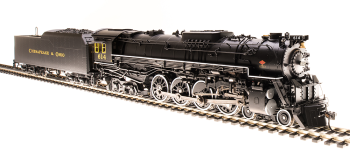 C&O J3a 4-8-4, #612, In-Service Version, Paragon3 Sound/DC/DCC, Smoke