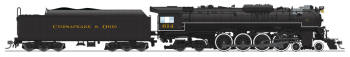 "C&O J3a 4-8-4, #614, Excursion Service, ""Chesapeake & Ohio"" Lettering, Paragon3 Sound/DC/DCC, Smoke"