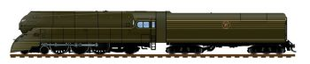 Streamlined PRR K4, Unlettered, 1936 Version, DGLE Paint, 180P75 Tender, Paragon3 Sound/DC/DCC