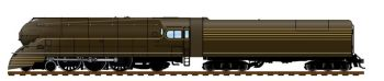 Streamlined PRR K4, Unlettered, 1936 Version, Bronze Paint, 180P75 Tender, Paragon3 Sound/DC/DCC