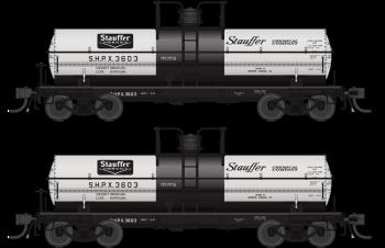 6000 Gallon Tank, Stauffer Chemical, Gray & Black, 2-pack, HO (SHPX #3603, SHPX #3608)