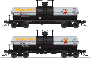 6000 Gallon Tank, Wyandotte Chemicals, Aluminum w/ Yellow & Red Logo, 2-pack, HO (SHPX #1337, SHPX #1340)