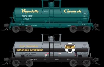 6000 Gallon Tank, Variety Set C, Early 1950's 2-pack, HO (Wyandotte #3601, Penn Salt #220)