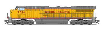 GE AC6000, UP #7516, Yellow & Gray Scheme, Paragon3 Sound/DC/DCC