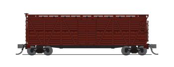 K7A Stock Car, Unlettered, Boxcar Red, Cattle Sounds