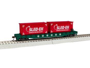 HO Christmas Flatcar w/Containers