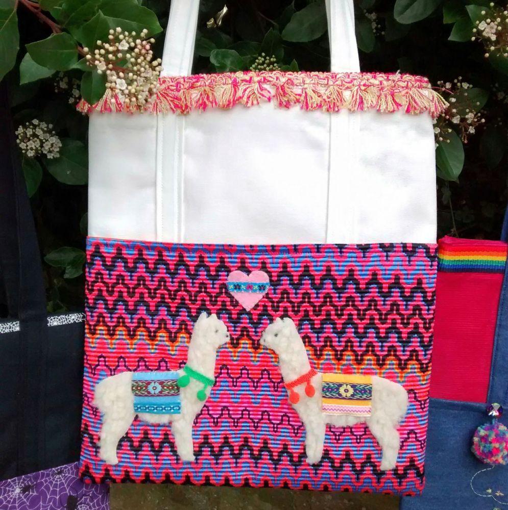 Loveable Alpaca Handmade Shoulder Bag Raspberrycatdesigns.co.uk